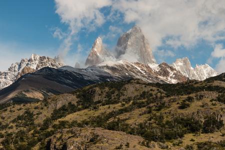 el chalten: Mount Fitz Roy, Patagonia, Argentina Stock Photo