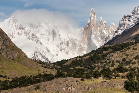 torre: Cerro Torre peaks in Los Glaciares National Park