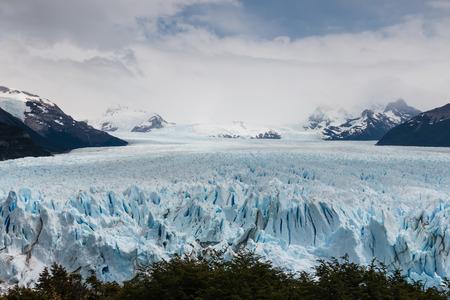 ice sheet: aerial view of Perito Moreno Glacier in Patagonia