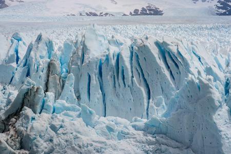 ice sheet: ice crevasses on Perito Moreno Glacier in Patagonia Stock Photo