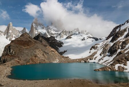 tres: Laguna De los Tres with Mount Fitz Roy in Southern Patagonia