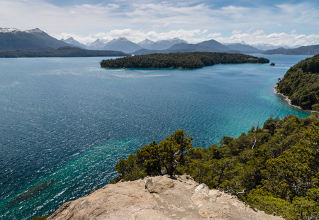 huapi: Nahuel Huapi lake in Patagonia Stock Photo