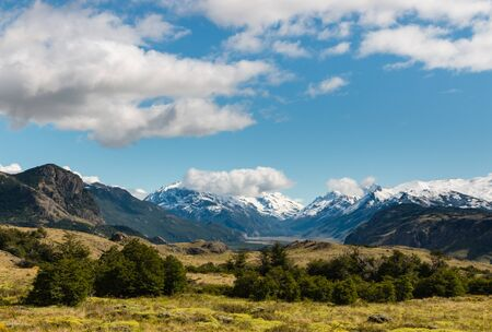 el chalten: mountain range in Southern Patagonia, Argentina Stock Photo