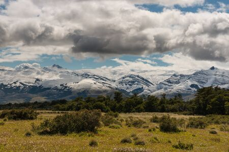 chalten: Southern Patagonia mountain range Stock Photo