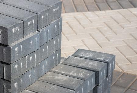 paving: grey paving stones Stock Photo