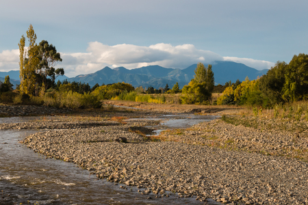 taylor: Taylor river in New Zealand Stock Photo