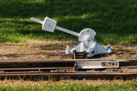 turnout: vintage railroad switch