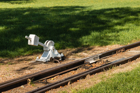 derail: disused rail track with switch