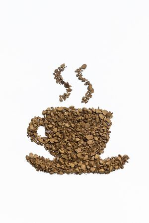 instant coffee: instant coffee cup on white background