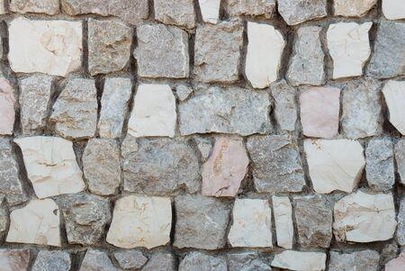 closeup of granite stone wall Stock Photo