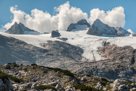 massif: Hallstatt glacier with Dachstein massif in Austria Stock Photo