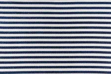 navy blue: closeup of navy blue and white striped textile Stock Photo