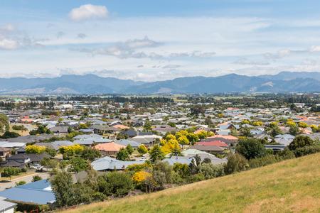 marlborough: houses in suburb of Blenheim town, New Zealand Stock Photo