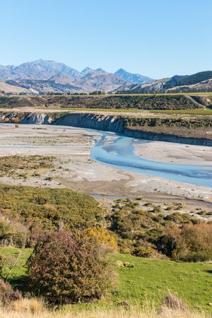 Awatere valley in Marlborough, New Zealand Stock Photo