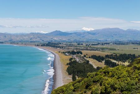 marlborough: Rarangi beach at Cloudy Bay, South Island, New Zealand