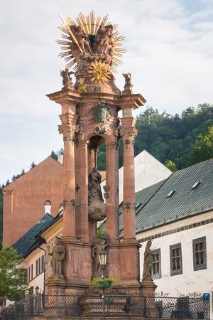 Baroque plague column in the Trinity Square, Banska Stiavnica, Slovakia
