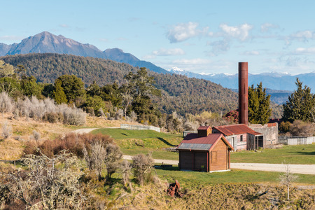Blackwater goldmine in Waiuta, West Coast, South Island, New Zealand