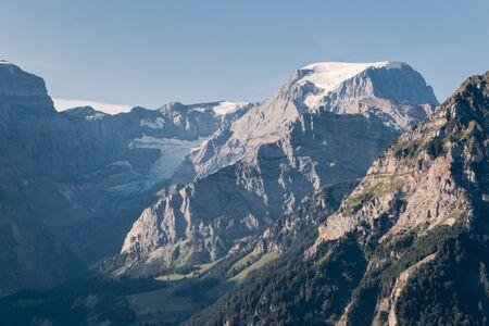 Glarus Alps with the Todi, Piz Russein peak and Biferten glacier in Switzerland Standard-Bild - 135924699