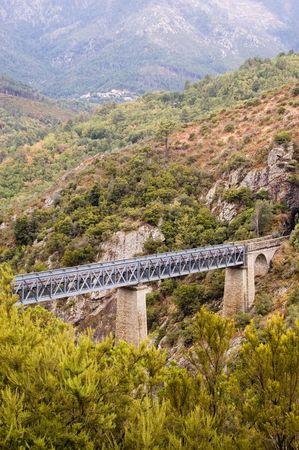 Historical Bridge over narrow glen in Corsica