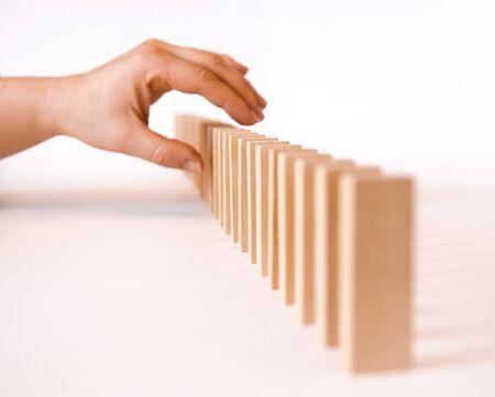 kockázatos: Hand trying risky operation to correct defect Stock fotó