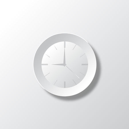 time keeping: Paper White Time Illustration