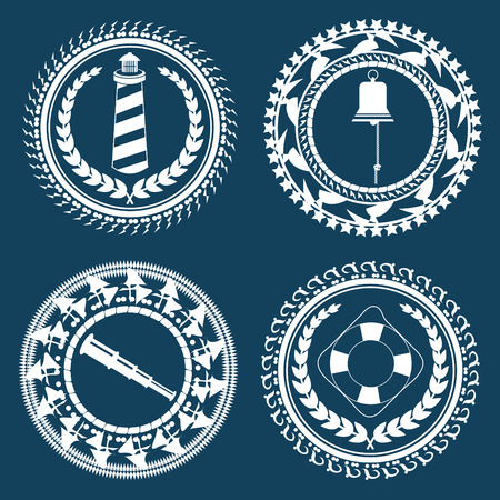 Nautical Symbols Element Set 2 Illustration