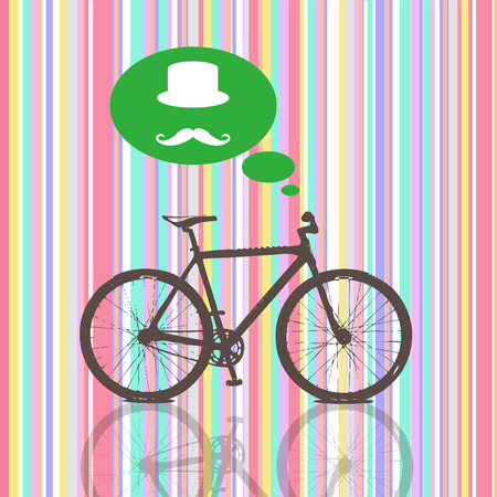foldable: Striped  Colorful Vintage Pattern  Bicycle