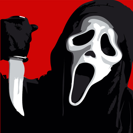 Scream Scary Horror Illustration Illustration