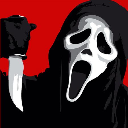Scream Scary Horror Illustration Illustration