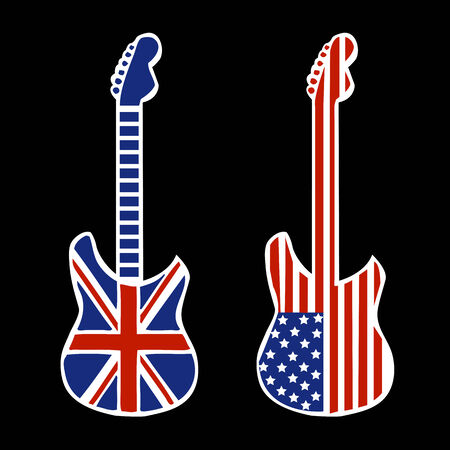 modern rock: British and American Modern Rock and Roll Guitars