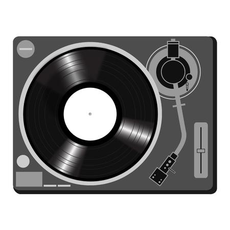 Turntable DJ Style Icon vector Vector