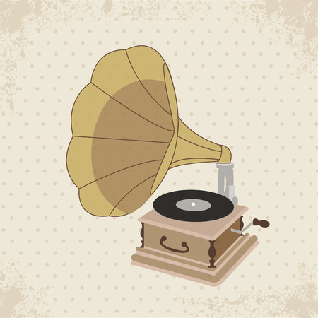 Vintage Gramophone Stylish the Good Old Music Vector