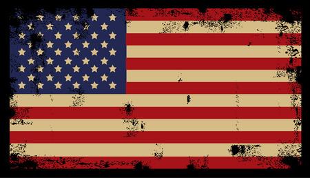 Grunge American Background flag Ilustração