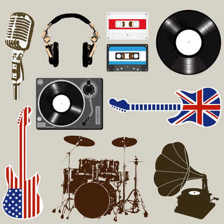 remix: Set of Music and Sound Objects element vector