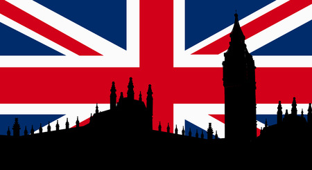 london big ben: British  Design with Big Ben London Flag