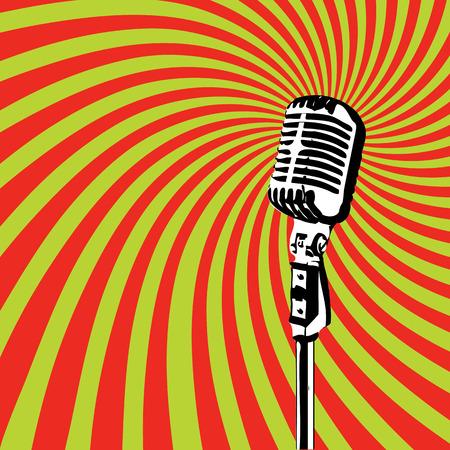 Micrófono retro por los partidos del Karaoke 2