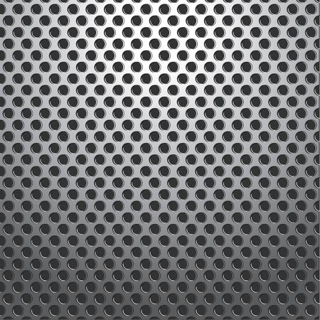 speaker grille: Silver Metallic Holes Plate Background Seamless