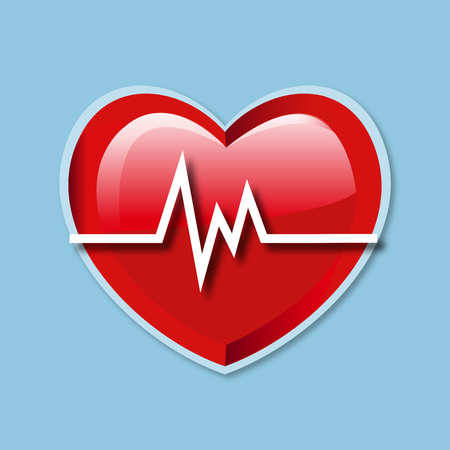 Heart beat rate icon healthcare and medical vector