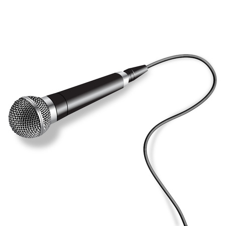 nightclub party: Microphone Vector Illustration