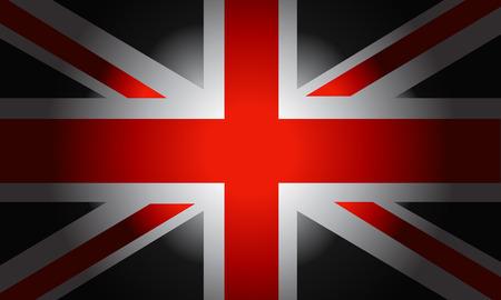 black flag: Stylish Black Flag British vector