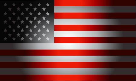 black flag: Stylish Black Flag American vector Illustration