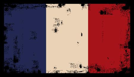 french flag: French Grunge flag background illustration Illustration