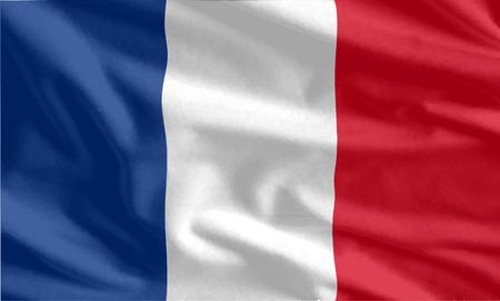 french flag: Waving flag of French background Illustration