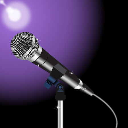 microphone with a cord on a Spotlight background 3