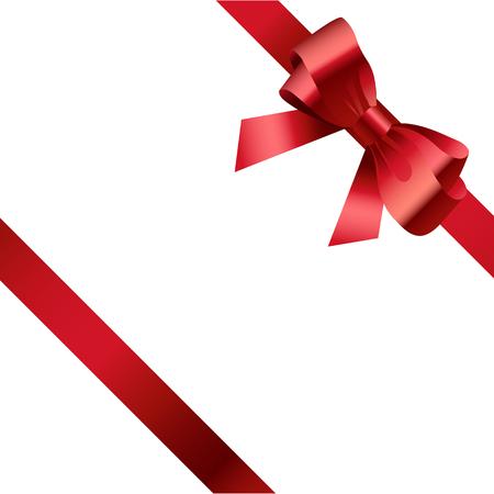 Red ribbon bow gift design vector illustration 2