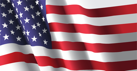 Waving flag of united state of america background.