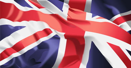 Waving flag of United kingdom background.