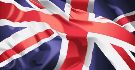 Waving flag of United kingdom background.