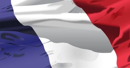 Waving flag of Republique Francaise background.