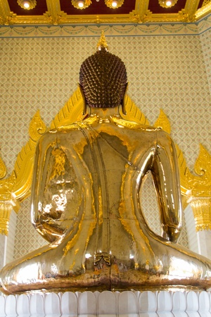 Real Gold buddha in the temple in Bangkok, Thailand  3 Stock Photo - 20426220
